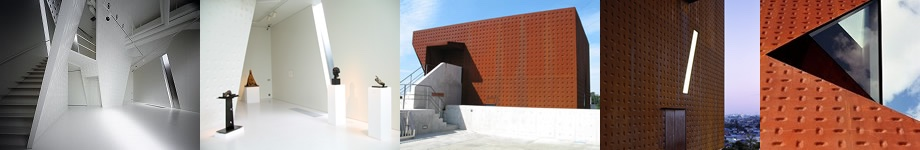 5 thumbnail images of SSM/Kanno Museum, showcasing its interior and exterior